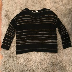 Pippa Lynn sparkly black and gold sweater 0a8ea1a94